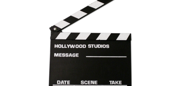 A Hollywood clapperboard